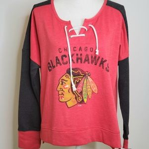 Chicago Blackhawks Lace Up Pullover Sweatshirt
